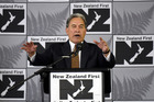 POLICY: Winston Peters in Katikati yesterday pledging support of the Katikati bypass. PHOTO/GEORGE NOVAK