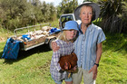 Flora Clarke, 12 and Ann Graeme were shocked to find their sheep had been killed by dogs. Photo / George Novak