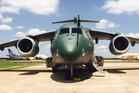 Embraer's prototype KC-390 military transport plane in Brazil. Photo / Grant Bradley
