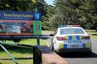 Police close Bason Botanic Gardens. Photo: Bevan Conley.