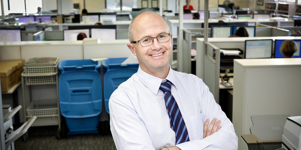 Ingham Mora director Richard Dey says the firm is happy to help the Tauranga Community Foodbank. Photo/Andrew Warner.