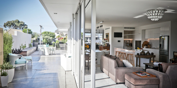 A 5.7 million dollar mansion on Oceanbeach Rd was the most expensive home sold in Tauranga this year. Photo/Andrew Warner.