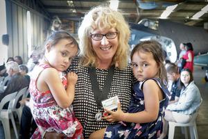Anna Lea Johnson with her Grandchildren Ellie (left) and Bobbie Ranapia (both 3)/