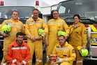 Winning Whanganui rural firefighters (from left) Aaron Whitford, Gavin Pryce, Andrew Simons, Blair Gray, Aaron Hartley and Kimberly Troughton. PHOTO/ SUPPLIED