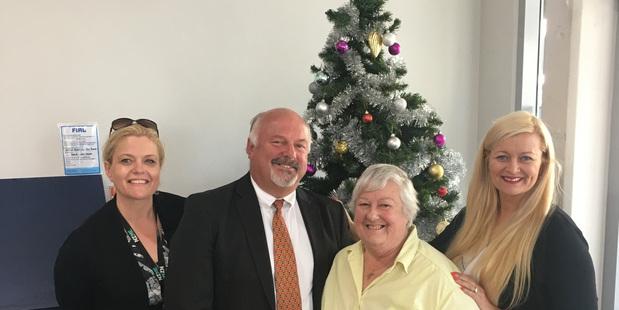 Chronicle organiser Ananda de Koning (left), sponsor Steve Ellis of LJ Hooker, Barbara Young of Birthright and Chronicle commercial manager Alison Hollard.