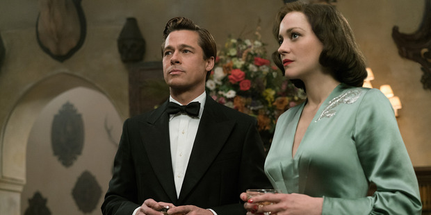 Brad Pitt plays Max Vatan and Marion Cotillard plays Marianne Beausejour in Allied. Photo / Supplied