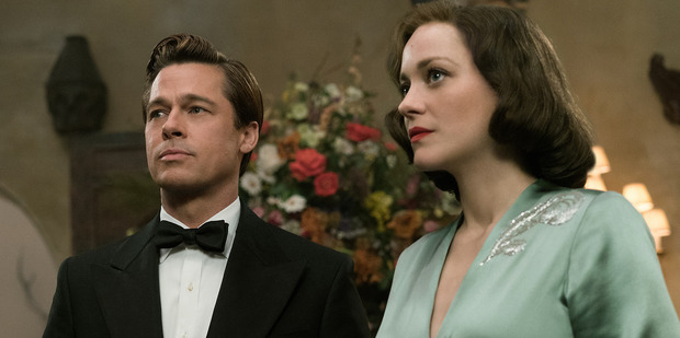 Loading Brad Pitt plays Max Vatan and Marion Cotillard plays Marianne Beausejour in the film, Allied.