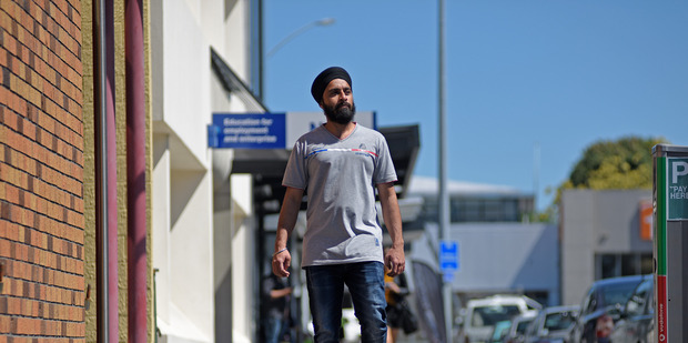 Gurveer Singh, 24, asks people to judge him on his ability to work, not his appearance. Photo/George Novak