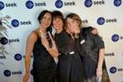 WINNING TEAM: Talent ID's Olivia Burma, Kellie Hamlett and Catherine Brown at the SEEK awards. PHOTO/SUPPLIED