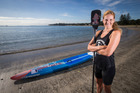 Penelope Armstrong won a world stand up paddle board title in Fiji. Photo / Jason Oxenham.