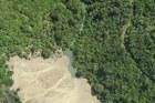 Aerial photo of the dam threatening Goose Bay following last week's 7.8 magnitude earthquake near Kaikoura. Photo / GNS