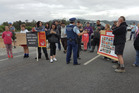The Pike River protest action entered its 12th day today. Photo / Greymouth Star