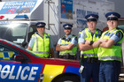 PATROL: From left, Senior Constable Mike West, Constable John Ure, Constable Alistair Redstall and Constable Kim Walsh will be out and about with the