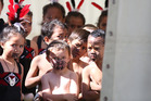 The Tauranga Moana Kapa Haka Festival held at St Marys School. Anxious and eager students wait to be called to the stage. Photo/John Borren