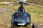 Chopper rescue Tongariro Crossing.
