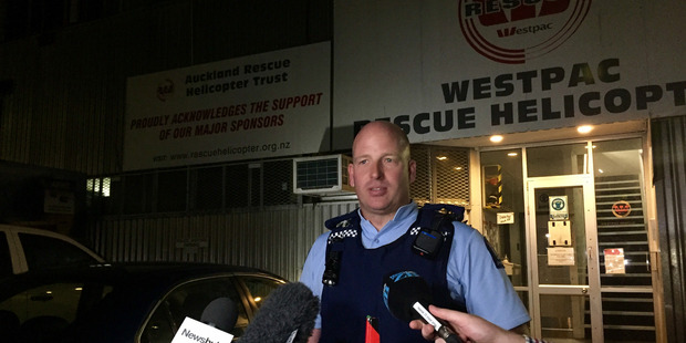 Inspector Duncan Hall at a news briefing last night. Photo / Cherie Howie