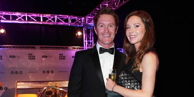 Scott Dixon and wife Emma Davies at the Legends of Speed event. Photo / Norrie Montgomery