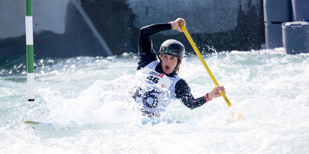 TOP CLASS: Tauranga's Luuka Jones competes in the C1 class of the Whitewater XL canoe slalom event at Vector Wero Whitewater Park in Auckland. Photo/Jamie Troughton/Dscribe Media