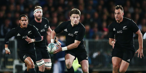 Loading Beauden Barrett of New Zealand makes a run during the Rugby Championship. Photo / Getty Images.