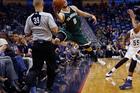 Milwaukee Bucks guard Matthew Dellavedova, who played with Cleveland when they won their NBA title last season. Photo / AP