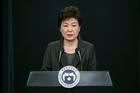 South Korean President Park Geun-hye speaks during an address to the nation. Photo / AP
