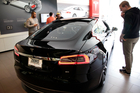 A Tesla model S at a show room in California. Photo / AP.