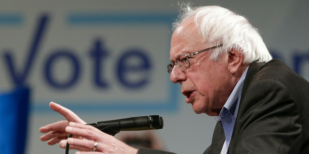 Claims that Hillary Clinton was favoured by the DNC over independent Senator Bernie Sanders. Photo / AP