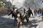 Rescuers from the Syrian Civil Defence White Helmets have been helped by civilians during the latest bombardment of east Aleppo. Photo / AP