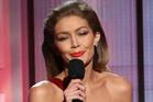 Host Gigi Hadid impersonates Melania Trump at the American Music Awards. Photo / AP