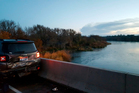 In this photo provided by Oregon State Police, a damaged car is shown on an Interstate 84 bridge over the Snake River on the Idaho/Oregon border. Photo / AP