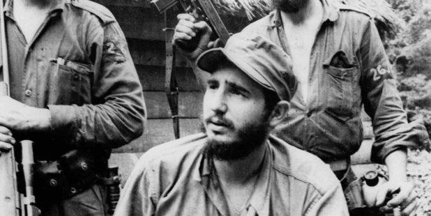 Loading Fidel Castro in 1957.  Photo / AP