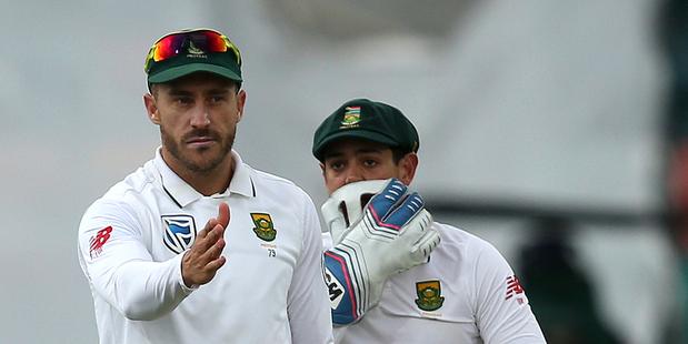South Africa's Faf du Plessis. Photo / AP
