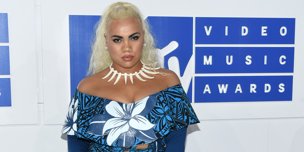 Parris Goebel at this year's MTV Video Music Awards where she was also nominated for an award. Photo / AP