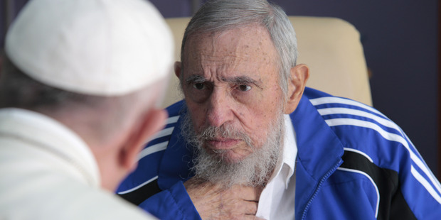 Pope Francis with Fidel Castro in Havana, Cuba, Sunday, Sept. 20, 2015. Photo / AP