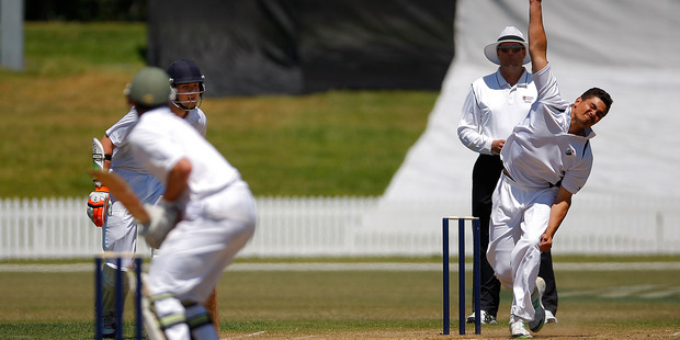 TOP CLASS: Bay of Plenty captain Peter Drysdale, facing Northland's opening bowler last year, will play his 70th game for the Bay this weekend. PHOTO/FILE