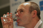Clive Woodward...raising a glass to the All Blacks. Photo / Mark Mitchell.
