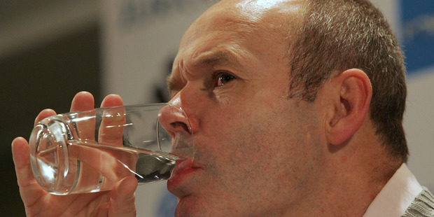 Loading Clive Woodward...raising a glass to the All Blacks. Photo / Mark Mitchell.