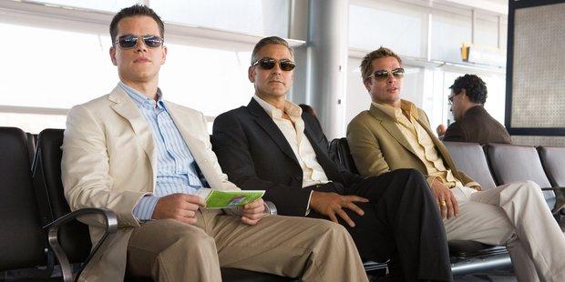 George Clooney (centre) stars as Danny Ocean in the movie Ocean's Thirteen.