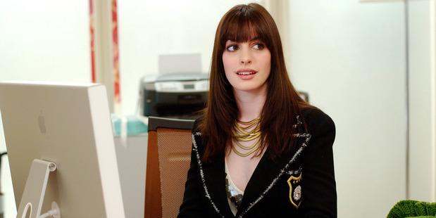 Anne Hathaway stars in the movie The Devil Wears Prada.