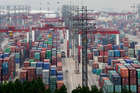 Shanghai Pudong International Container terminal.  China is NZ's second biggest export market. Photo / Mark Mitchell