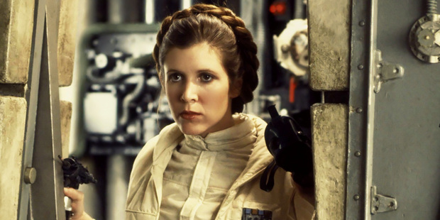Carrie Fisher in Star Wars.