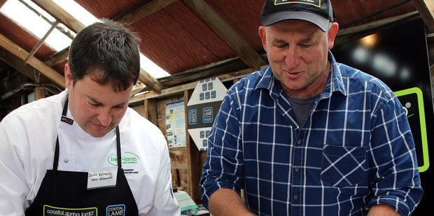 Chef Scott Kennedy and Coastal Spring Lamb founder Richard Redmayne prepare lunch at the brand's 2016 launch. PHOTO/ FILE