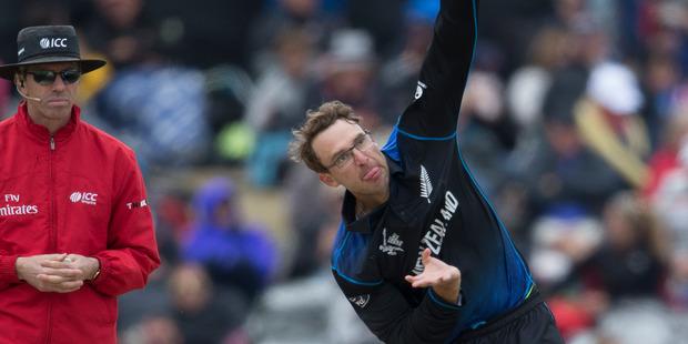 Former New Zealand bowler Daniel Vettori in action. Photo / Brett Phibbs