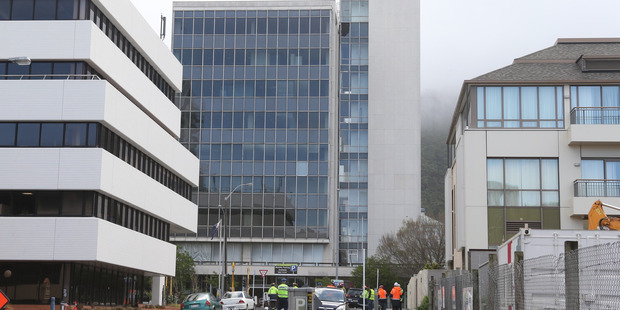 The nine-storey building on Molesworth St in Wellington. Photo / Mark Mitchell