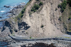 Aerial shots of SH1 south of Kaikoura. Photo / Mike Scott