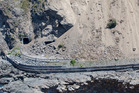 Aerial shots of SH1 south of Kaikoura after last week's 7.8 earthquake. Photo/ Mike Scott