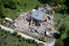 The Elms homestead near Kaikoura was destroyed in a 7.5-magnitude quake. Louis Edgar was killed when the historic home collapsed. Photo / Mike Scott