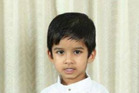 Aldrich Viju, 4, has been farewelled in a final service in India today. Photo / Supplied