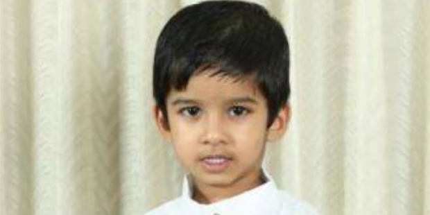 Four-year-old Aldrich Viju died in an accident at the Angels Childcare Centre on Anzac St, Takapuna. Photo / Supplied