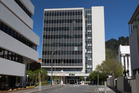 The nine-storey building at 61 Molesworth Street, Wellington, that will be de-constructed as a result the November 14 7.8 earthquake. 21 November 2016 New Zealand Herald Photograph by Mark Mitchell.